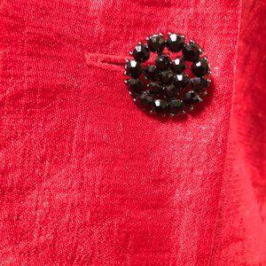 Victor Costa Jackets & Coats - Victor Costa Vintage Ruffle Jacket